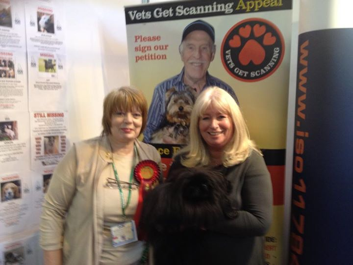 Photo shows Stephanie Presdee and Ti Chi with Debbie Matthews, who leads the Vets Get Scanning Campaign.